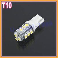 Free shipping+ 10pcs/lot T10 White 15 3528 LED Car Auto Side Wedge Indicator Light Lamp Bulb