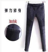 2013 new women's autumn and winter plus velvet southbound feet thick velvet warm pants waist trousers DY c315