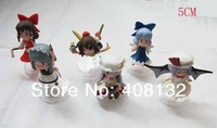Wholesale - DHL Free shipping Anime Toy Touhou Project Hakurei Reimu Figure 6pcs/set 4-6cm