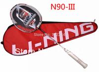 Original Lining Carbon Badminton Rackets N90-3 high quality li ning n90iii racquet,free shipping