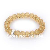Free shipping hot selling Crystal bracelet ts Bracelet  cheap jewelry factory price TH1026 Light yellow crystal bracelet