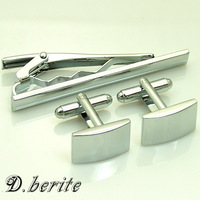 NEW GIFT SET ENAMEL ON TIE CLIP CLASP CUFFLINKS CLJ29