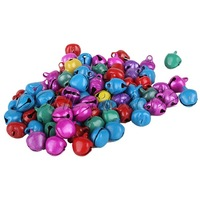 1000Pcs Mix Color Aluminum 8mm Beads Christmas Jingle Bells Pendants DSHL