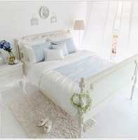 100% piece cotton bedding set blue bedding fashion