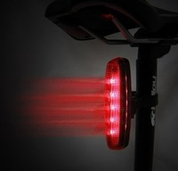 2014 Cycling Bike Bicycle Super Bright Red 5 LED Rear Tail Light 4 Modes Lamp Bicycle Accessories Parts Tool Equipments Lighting