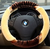 Winter car steering wheel cover car cover plush steering wheel cover winter thighed set wool steering wheel cover