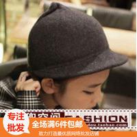 Hat woolen autumn and winter dome flat brim general