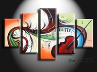 Hand painted frameless oil painting home decoration painting picture musical instrument abstract canvas painting home decor