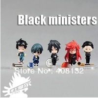 Japan Anime Mini Black Butler Kuroshitsuji Action Figure 5 Pcs