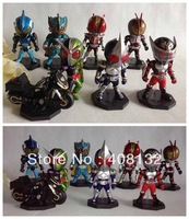 Free shipping WCF Masked Kamen Rider Figures 8 PCS Set In Box