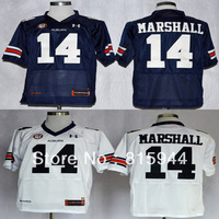 College Auburn Tigers #14 Nick Marshall blue/ white ncaa football jerseys mix order free shipping