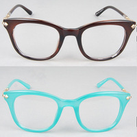 Women's Eyewear The latest big metal boxes flat lens tide restoring ancient ways Karen walker glass frame glass frame