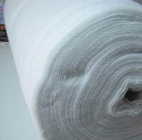 100*100cm 1MM thick cotton needle punch fabric, DIY Fabric packs,Hot-pressing cotton felt fabric, white color