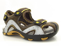 free shipping 2014 summer children genuine leather sandals, boy brand baotou beach shoes, kids sports shoes