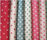 "Free Shipping 8pcs 50x50cm (19.6""*19.6"") 100%  twill Cotton fabric Poplin cloth Dot series collection twill 8 colors"