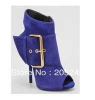 2013 newest arrvial  best sellling cheap price sexy women's leather Cingulate fish head sandals