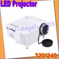 Gift Idea Mini  LED projector Native 320*240 AV LCD Digital Projector VGA A/V USB & SD home projector U28+Free shipping