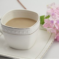 Free shipping  Zakka New 2013 Ice color gold embossed ceramic coffee cup and saucer/office Coffee Cup Set/Home decoration