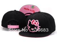 Cartoon Hello Kitty Snapback cap most fashion 10 styles Adjustable sport baseball caps women hip hop hat! Free shipping!!