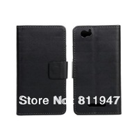 PU Leather Stand Wallet Case with Credit Card Pockets For Sony Xperia  M C1905