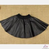 6pcs/lot vestidos free shipping teenage christmas tutu summer baby short black tutu  children fur girl leather skirt kids