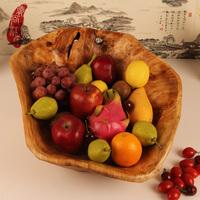 Fashion carving wood fruit plate decoration kitchen fruit basket