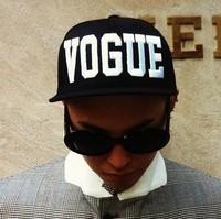 fasion vogue letter black snapback hat cap hip-hop hats g-dragon baseball caps hiphop snapbacks for men women unisex 131221