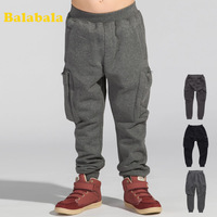 Balabala BALABALA male boy trousers winter children's clothing fashion trousers 2013