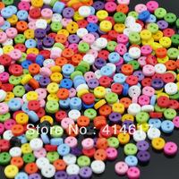 6mm lots 300pcs plastic buttons cute bady craft/sewing/doll Mix color U pick