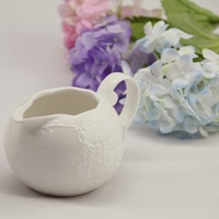 Free shipping New Zakka White lace butterfly embossed ceramic milk jug/Sugar Pot/Storage tank/Family tea, coffee sets necessary