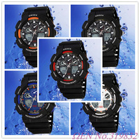 Free Shipping OHSEN Analog & Digital LCD Men Date Day Alarm waterproof sport Watch AD1012 Available Colors