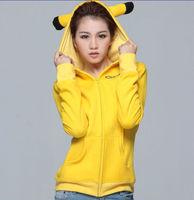 Factory Made Winter Spring Pikachu Hoodie Pokemon Animal Hoody Sweatshirt Cotton Coat Cosplay Costume