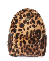 Harajuku joyrich leopard print chamois mini chain backpack