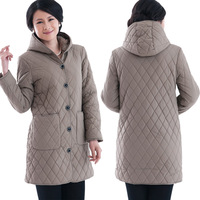 Women's cotton winter thickening cotton-padded jacket coat big yards. Free shipping