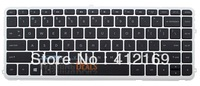 New Laptop Keyboard for HP PK130UK3A00 SG-61700-XUA SN7125 black keyboard with Silver frame US Layout