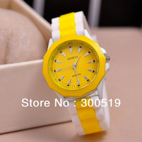 JW025 Fashion Casual Women Watches Geneva Wristwatches Silicone Jelly Watches Women Dress Relogio Hours