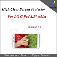 "10pcs/lot For LG G Pad 8.3"" tablet screen protector, for LG G pad 8.3"" high clear screen guard film, opp bag packing,"