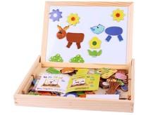 preschool educational toys children's magnetic puzzle drawing board girl's cartoon animal scene Double-sided artboard boy's C776