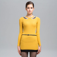 Petit 2013 autumn and winter mofan women's wool slim one-piece dress