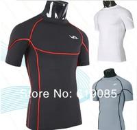 100pcs/lot Free shipping Mens Designer Quick Drying Casual T-Shirts Tee Shirt Slim Fit Tops New Sport Shirt  M L XLXX L
