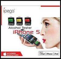 High Quality iPega Breath Alcohol Tester Backlight LCD Digital Analyzer Breathalyzer For Iphone 5 5S 5C/ iPad 4/iPad Mini/iPod