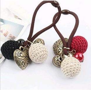 Vintage decorative pattern of the love yarn ball hair accessory headband hair rope(China (Mainland))
