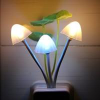 Fashion Led Control Sensor Light Mushroom Shape Colorful Small Wall Lamps for Living Room
