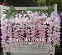 Silk Daisy Flower Rattan Artificial Simulation Feelingly Silk Valance Flowers Wisteria Wall Flower for Home Decoration