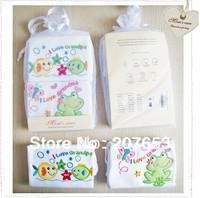 free shipping 8pcs /lot baby clothing baby short sleeve bodysuit animal design w/ I love grandma baby jumpsuit w/ gift bag 4pack