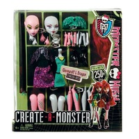 T0020 Original Monster High dolls Create-A-Monster Werewolf and Dragon Set girls plastic toy gift free shipping