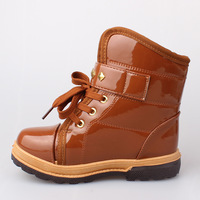 #01 2013 Fashion cheap supre warm kids house snow boots brown color
