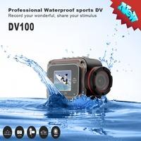 2014 New Arrival Waterproof Helmet DVR 1080P Full HD Sport Action Camera 1.5inch LCD Bike Camera 140 Degree Wide Angle 10M DV100