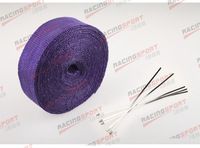 "FIBERGLASS Exhaust Thermo Wrap Tape High Heat 2"" x 1/16X25FT Cloth Roll PURPLE"