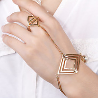 Sl036 accessories fashion trend fashion punk rhombus one piece ring